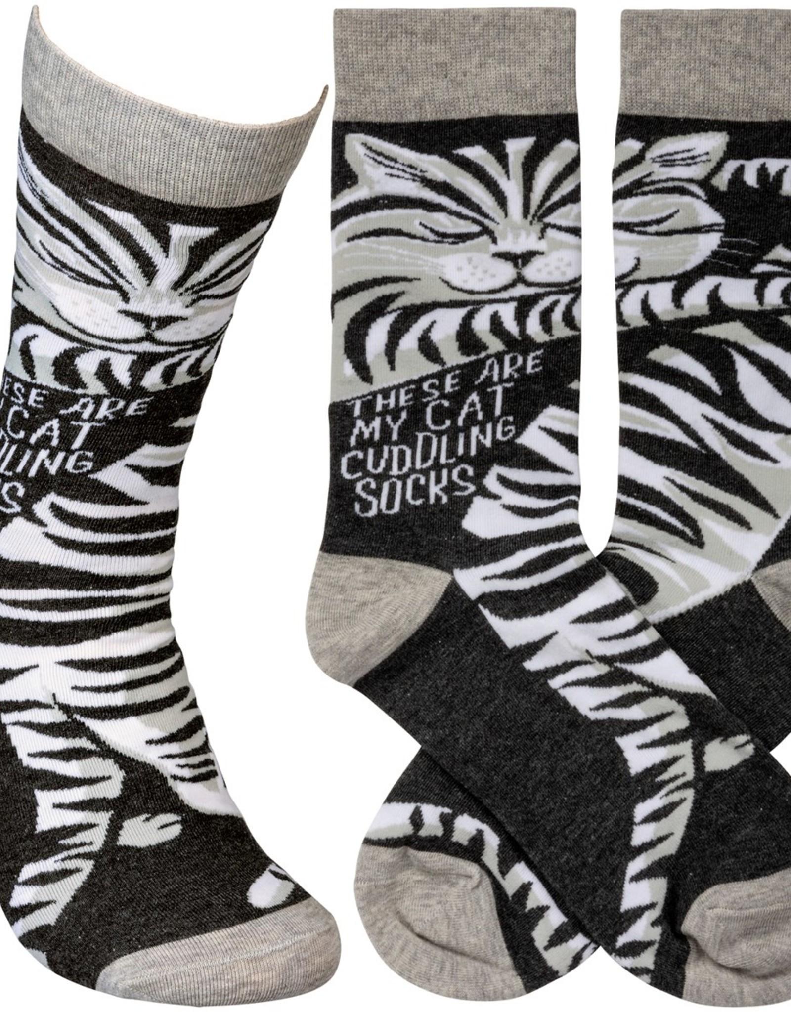 Primitives By Kathy Socks - Cat Cuddling Socks