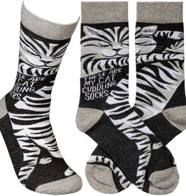 Primitives By Kathy Socks - Cat Cuddling Socks