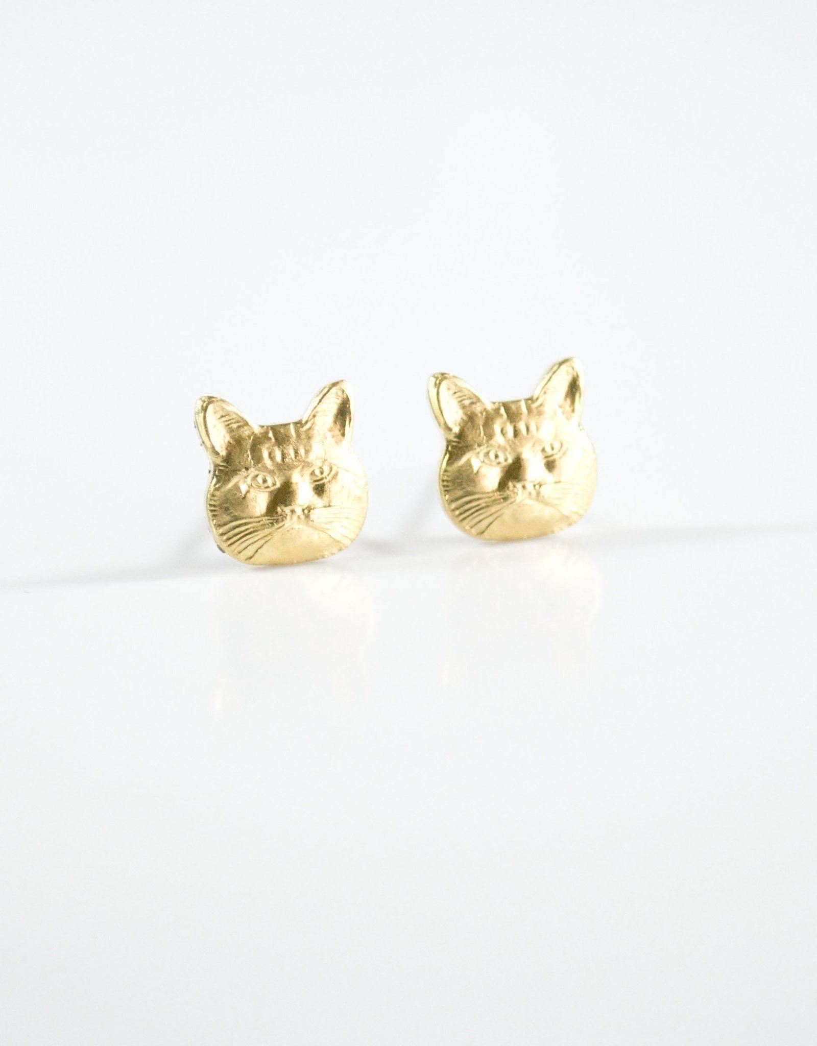 Grey Theory Mill Earrings - Cat Head