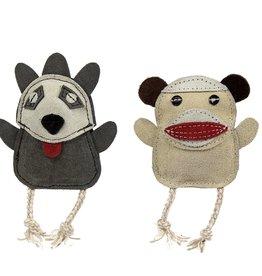 Huggle Hounds Wee Buddies Sock Monkey & Raccoon