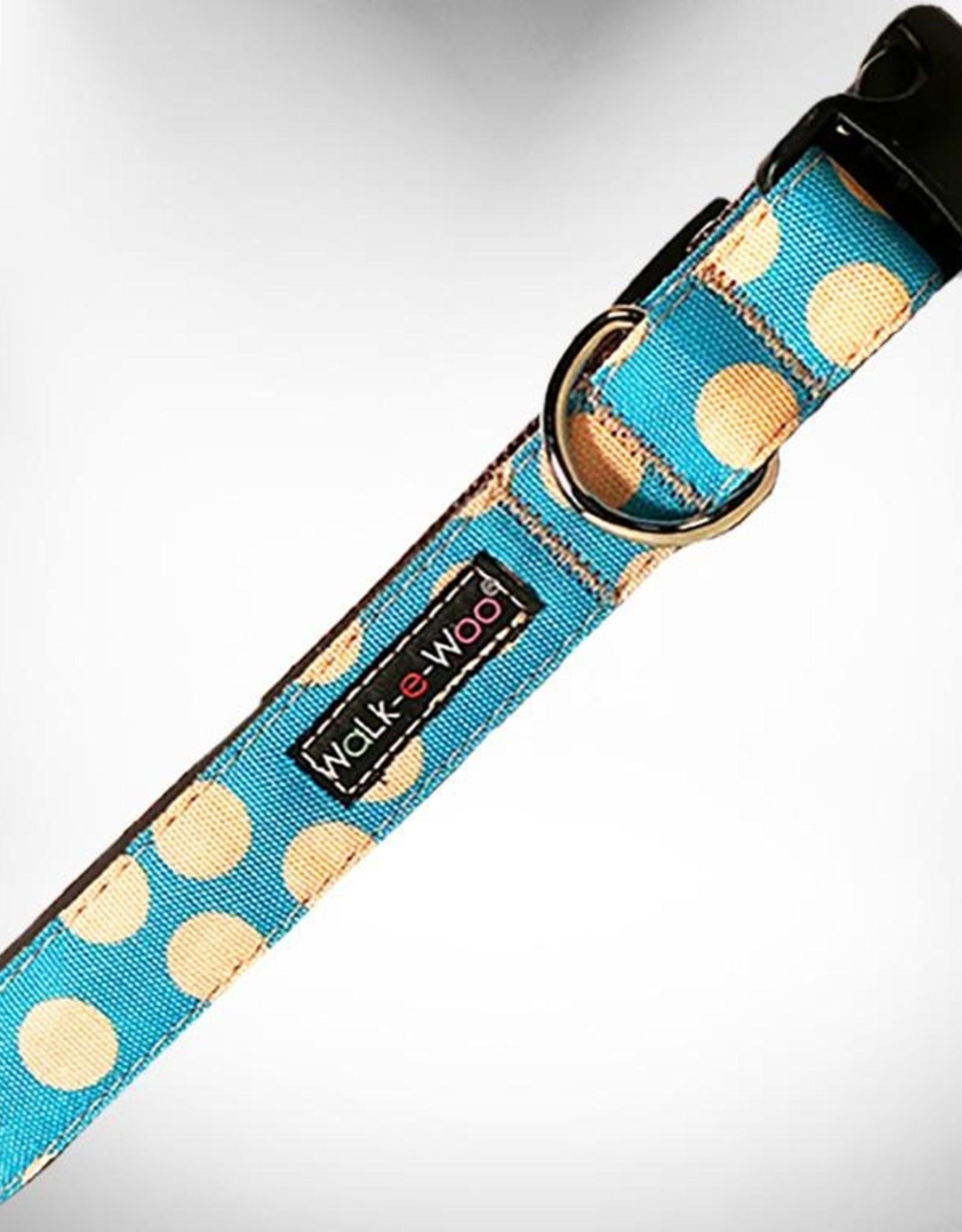 Walk-e-Woo Tan Dot on Turquoise