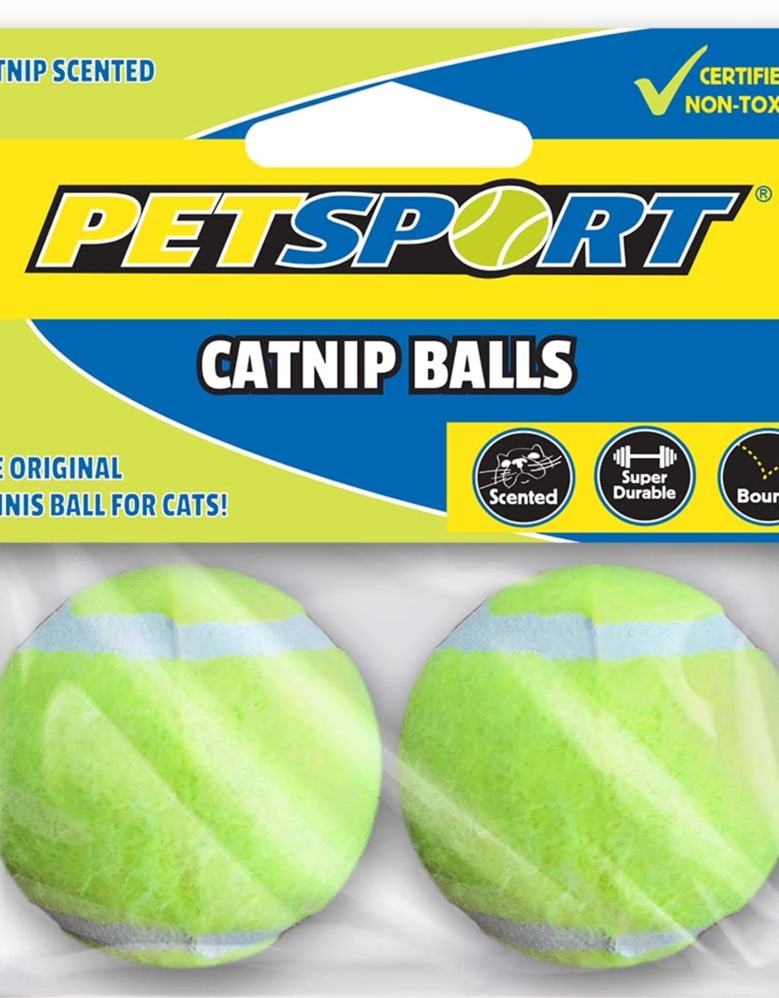 Catnip Tennis Ball 2-pk