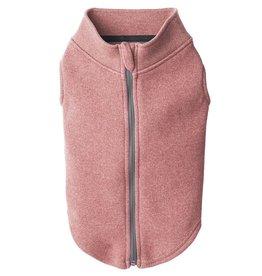 Gooby Zip-Up Microfiber Fleece Pink