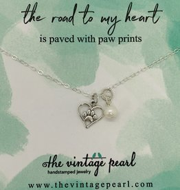 The Vintage Pearl Road To My Heart Necklace