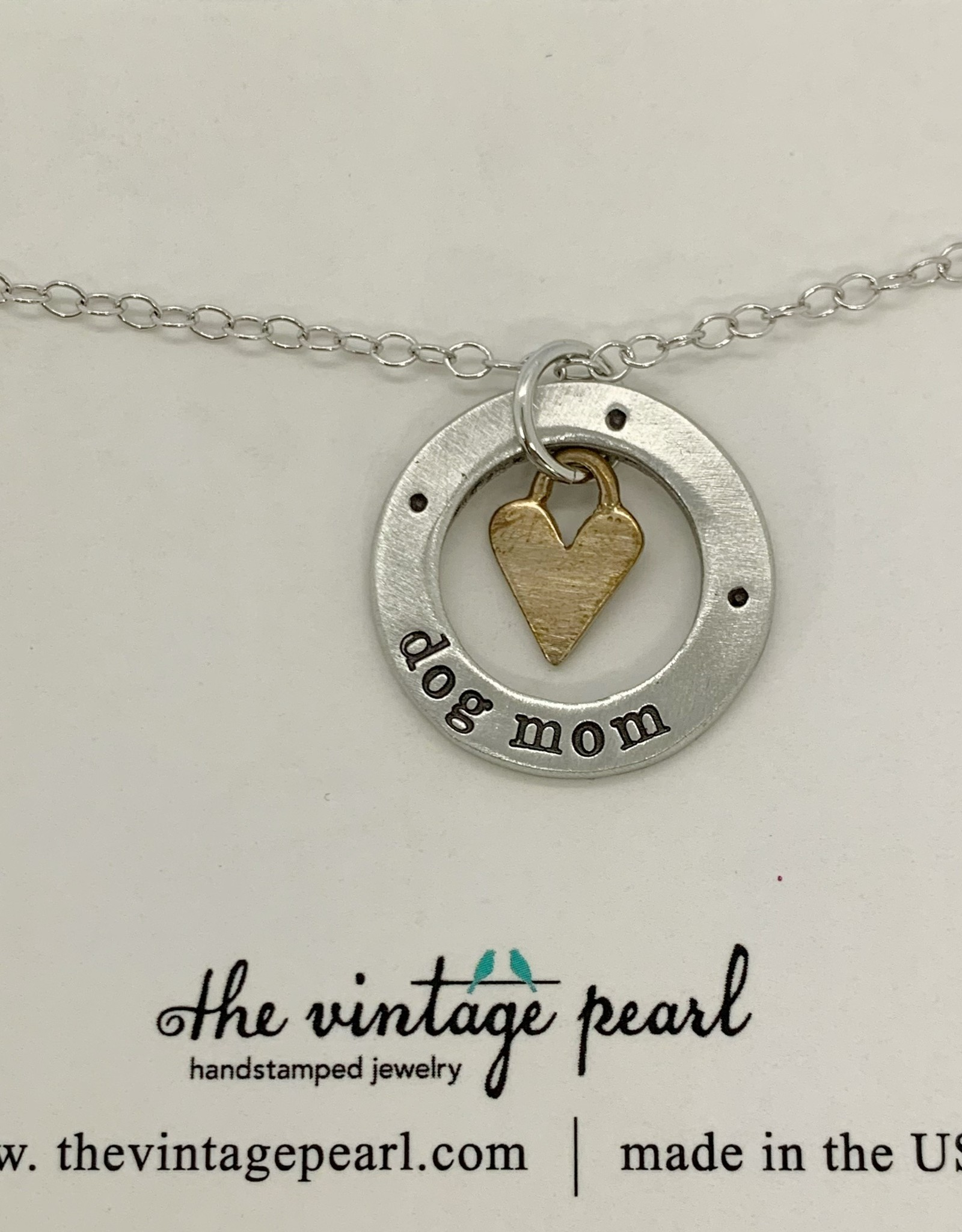 The Vintage Pearl Dog Mom Necklace