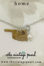 The Vintage Pearl Home Paw Print Necklace