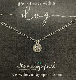 The Vintage Pearl Life is Better Necklace