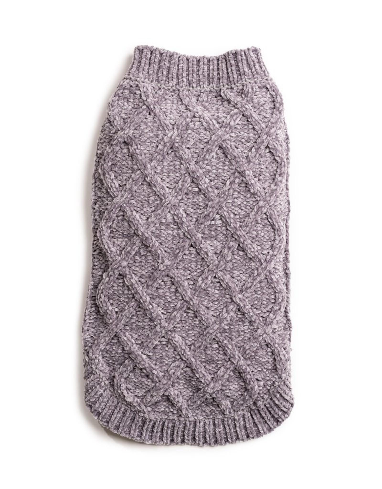 Fab Dog Grey Chenille Sweater