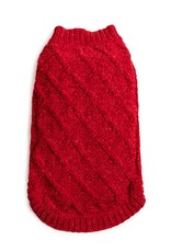 Fab Dog Red Chenille Sweater