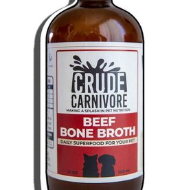 Crude Carnivore Beef Bone Broth 17oz