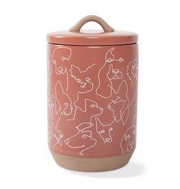 Fringe Studio Loose Dog Line Treat Jar