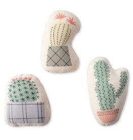 Fringe Studio Potted Cactus Canvas Mini Dog Toys Set Of 3