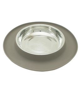 Messy Mutts Messy Cats - Gray Silicone Bowl