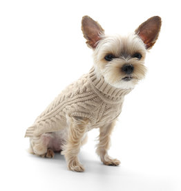 DOGO Pet Fashions Cable Turtleneck Sweater