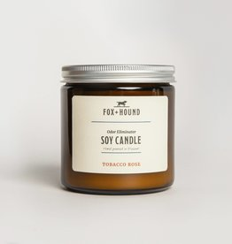 Fox & Hound Odor Eliminator Soy Candle - Tobacco Rose