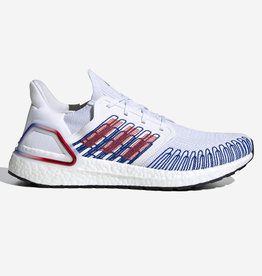ADIDAS ULTRABOOST 20 CLOUD WHITE / SCARLET / ROYAL BLUE EG0712