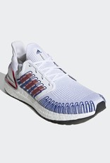 ADIDAS ULTRABOOST 20 CLOUD WHITE / SCARLET / ROYAL BLUE