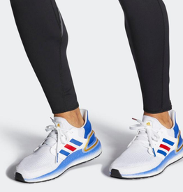 ADIDAS ULTRABOOST 20 CLOUD WHITE / ROYAL BLUE / SCARLET FY9039