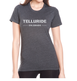 DISCOUNT MUGS #968 TELLURIDE CO TEXT WOMENS SS