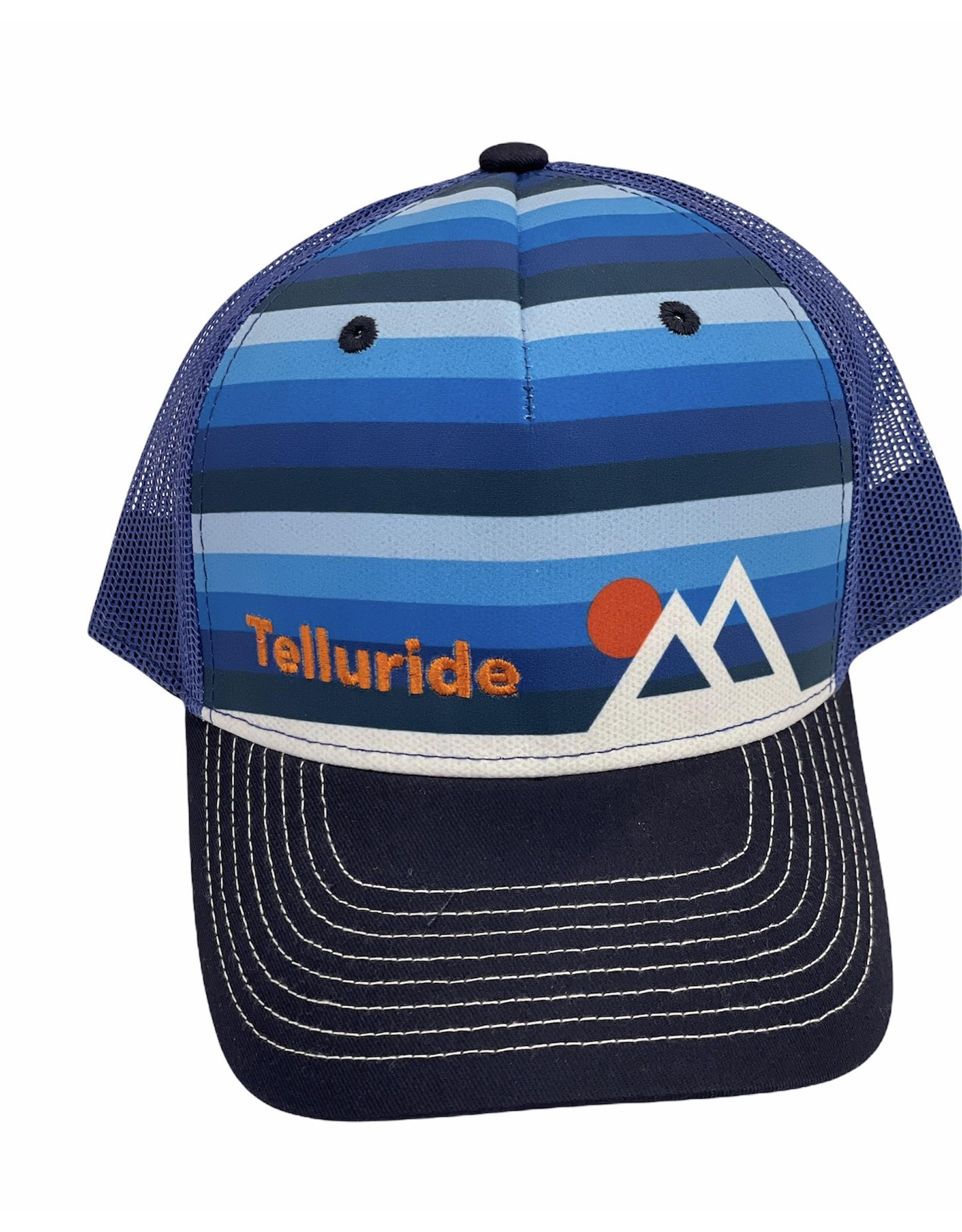 LONE ROCK MOUNTAIN SUNSET STRIPE SUB HAT