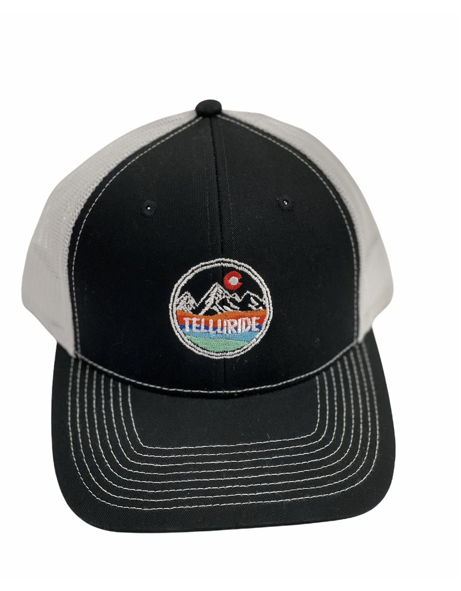 LONE ROCK COLORED WAVE MTN CO HAT BLACK/WHITE