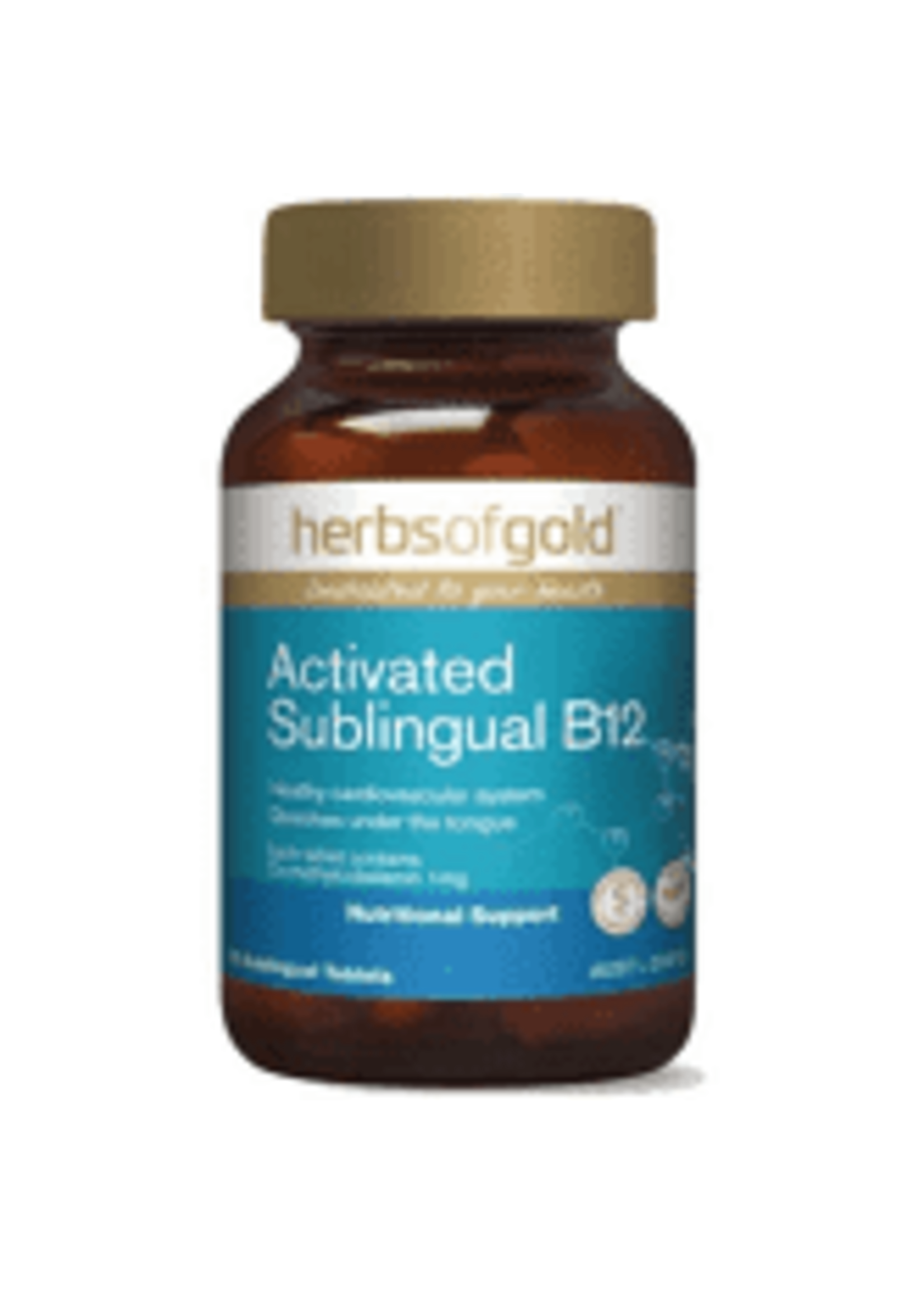 Herbs of Gold Herbs of Gold Activated Sublingual B12 75 Tabs