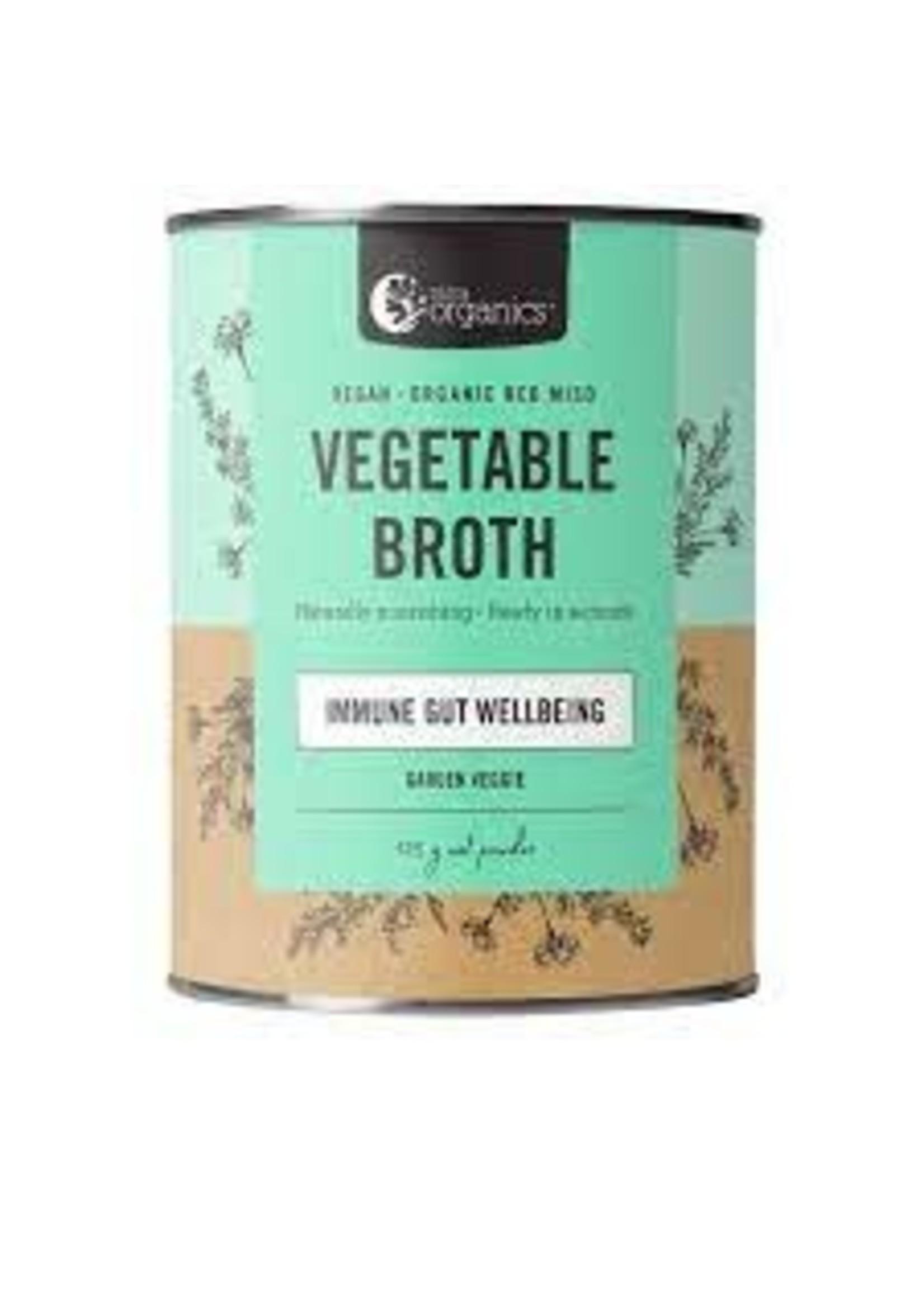 Nutra Organics Nutra Organics Vegetagble Broth Garden Veggie Immune Gut 125g Powder Cannister