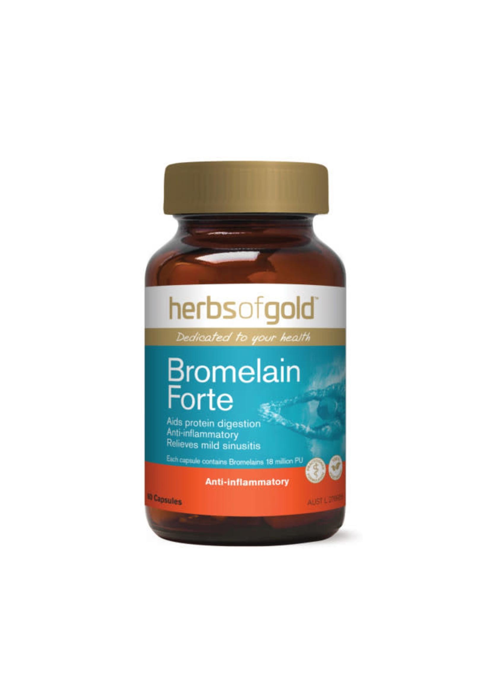 Herbs of Gold Herbs of Gold Bromelain Forte 60 Capsules
