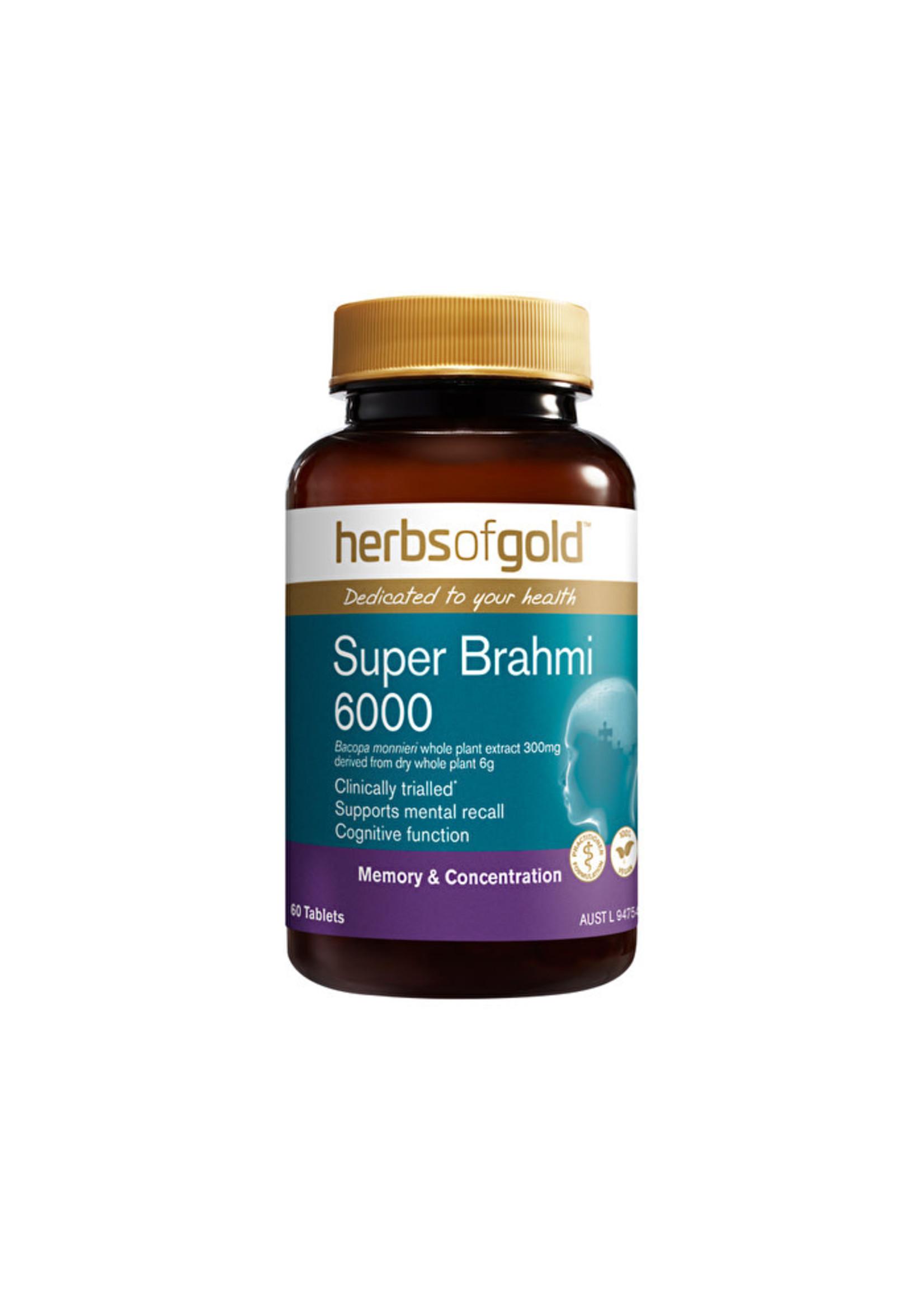 Herbs of Gold Herbs of gold SUPER BRAHMI 6000 60 tabs