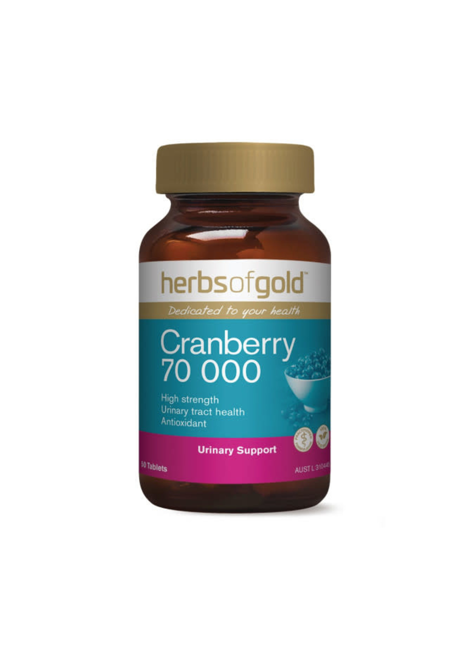 Herbs of Gold Herbs of Gold Cranberry 70, 000mg  50 tabs