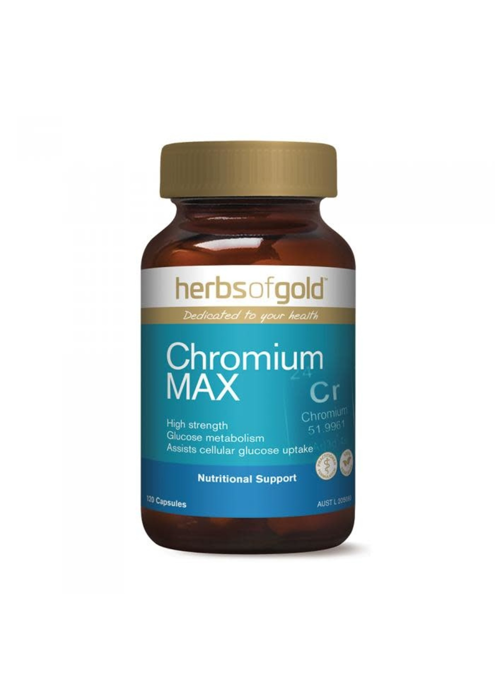 Herbs of Gold Herbs of Gold Chromium Max 120 vege caps