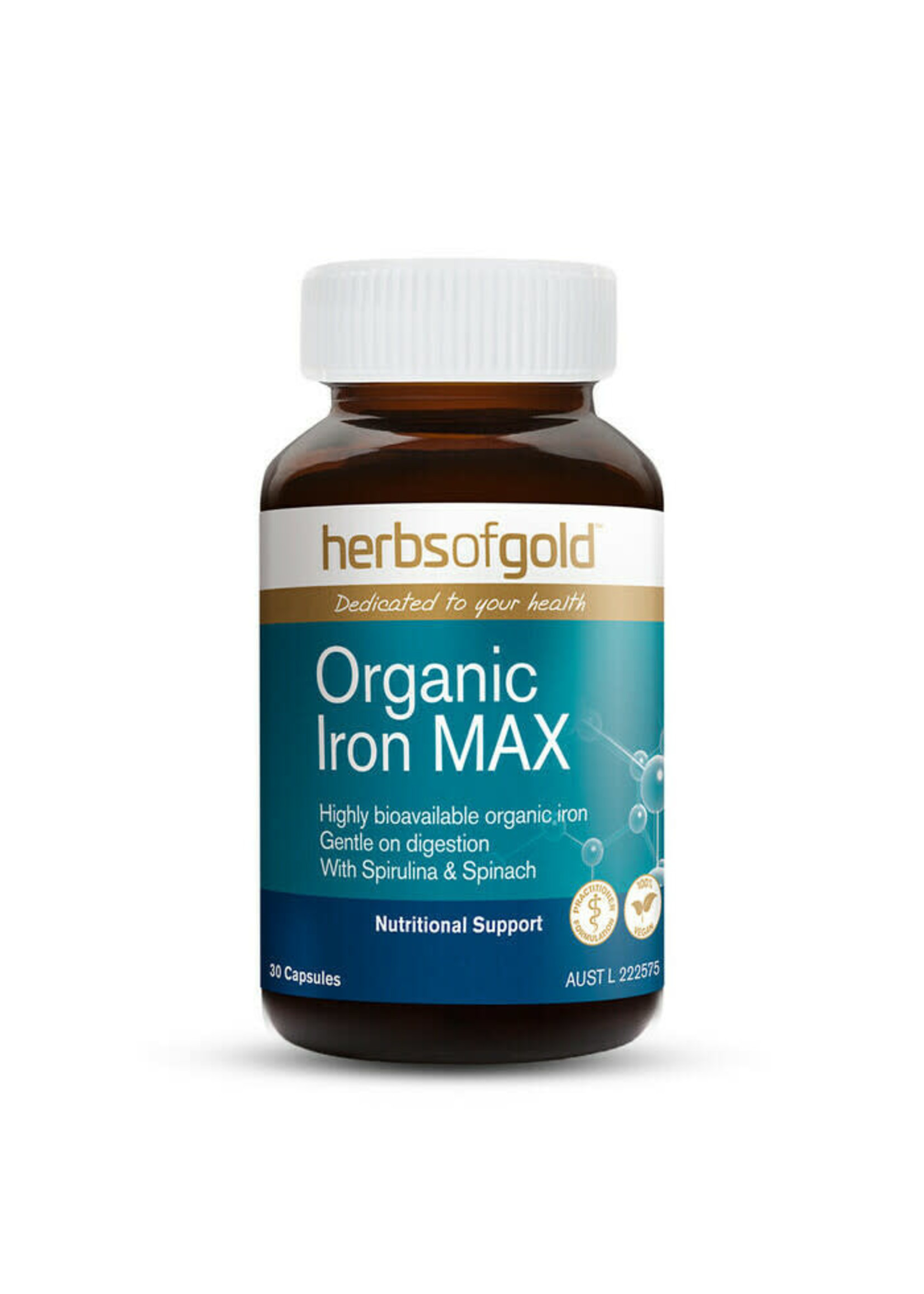 Herbs of Gold Herbs of Gold Organic Iron Max 30caps