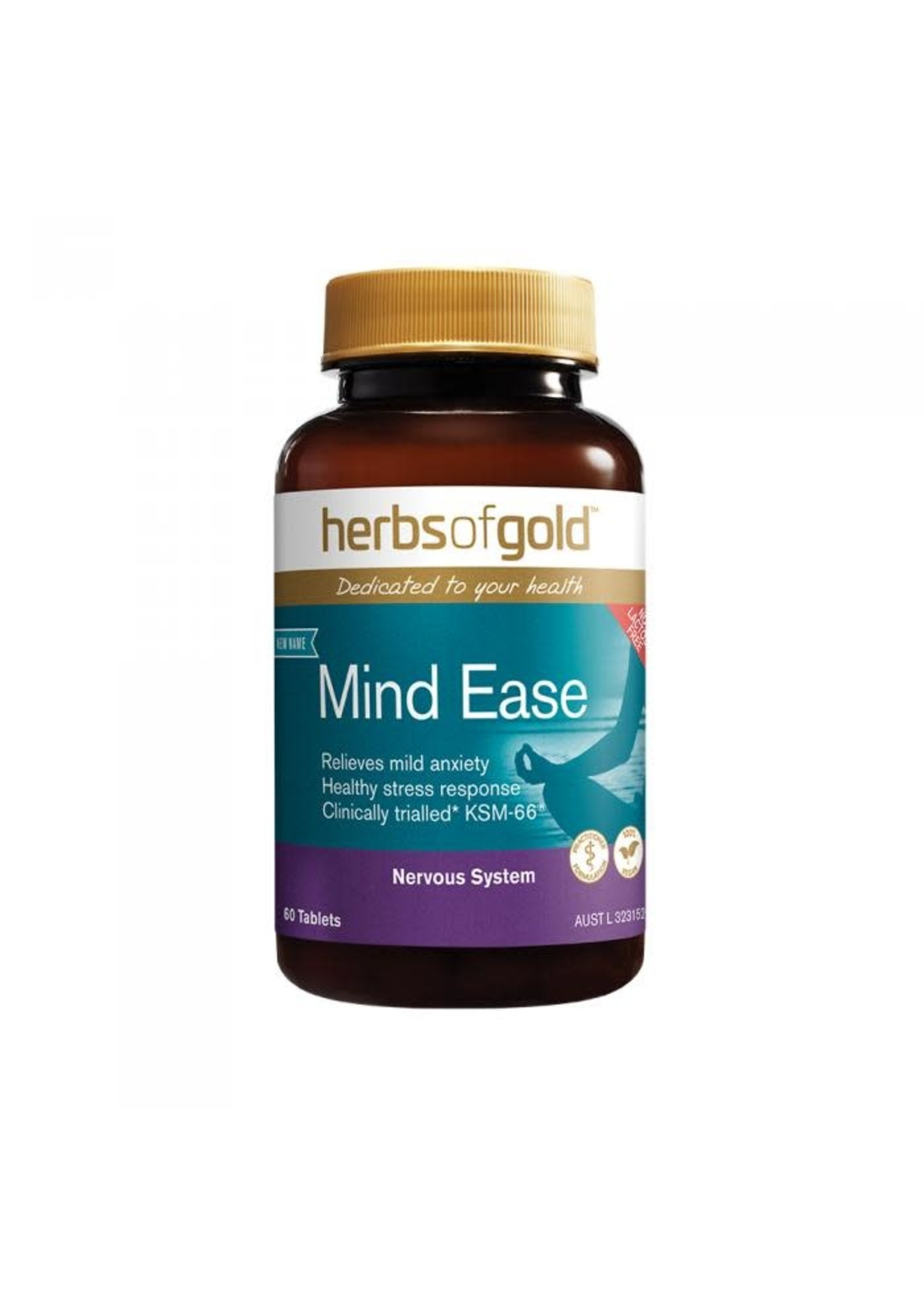 Herbs of Gold Herbs of Gold Mind Ease  60 tabs