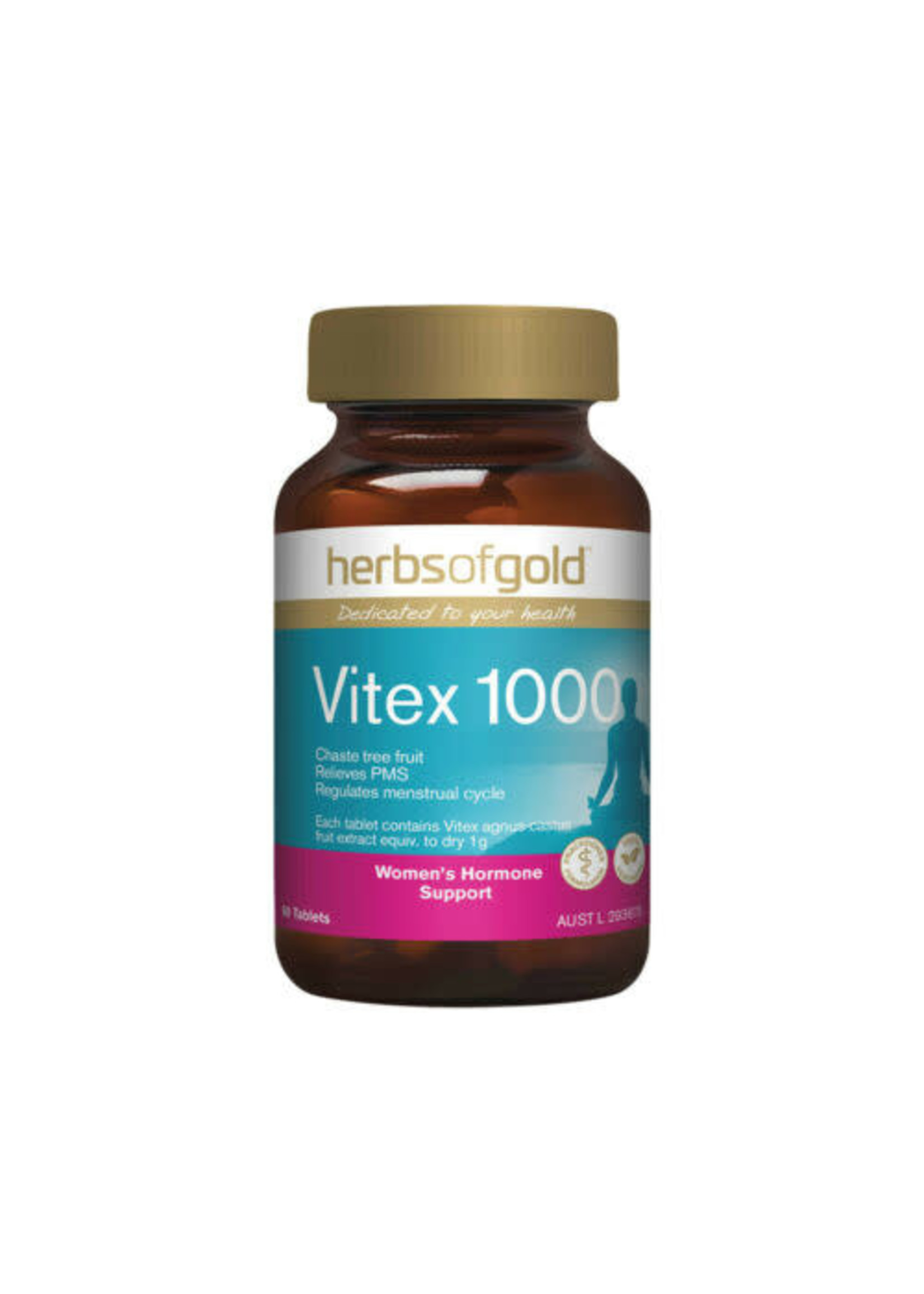 Herbs of Gold Herbs of Gold Vitex 1000 60 tabs