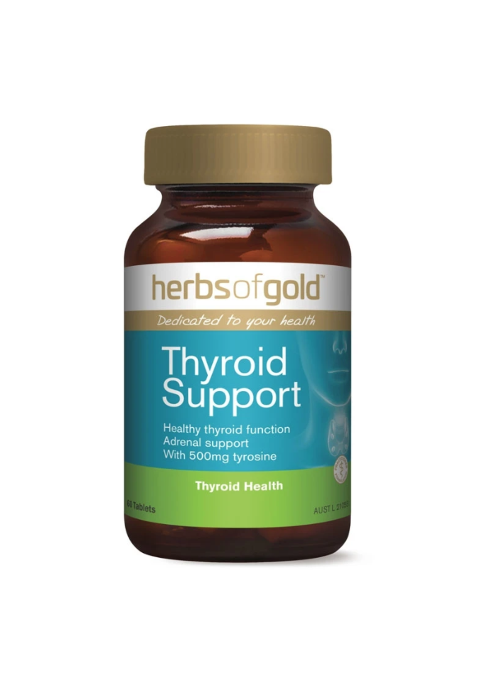 Herbs of Gold Herbs of Gold Thyroid Support 60 Tabs