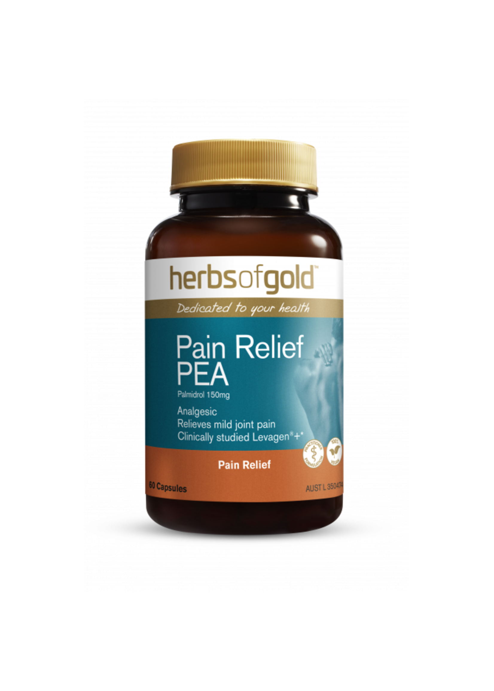 Herbs of Gold Herbs of Gold Pain Relief PEA 60 caps