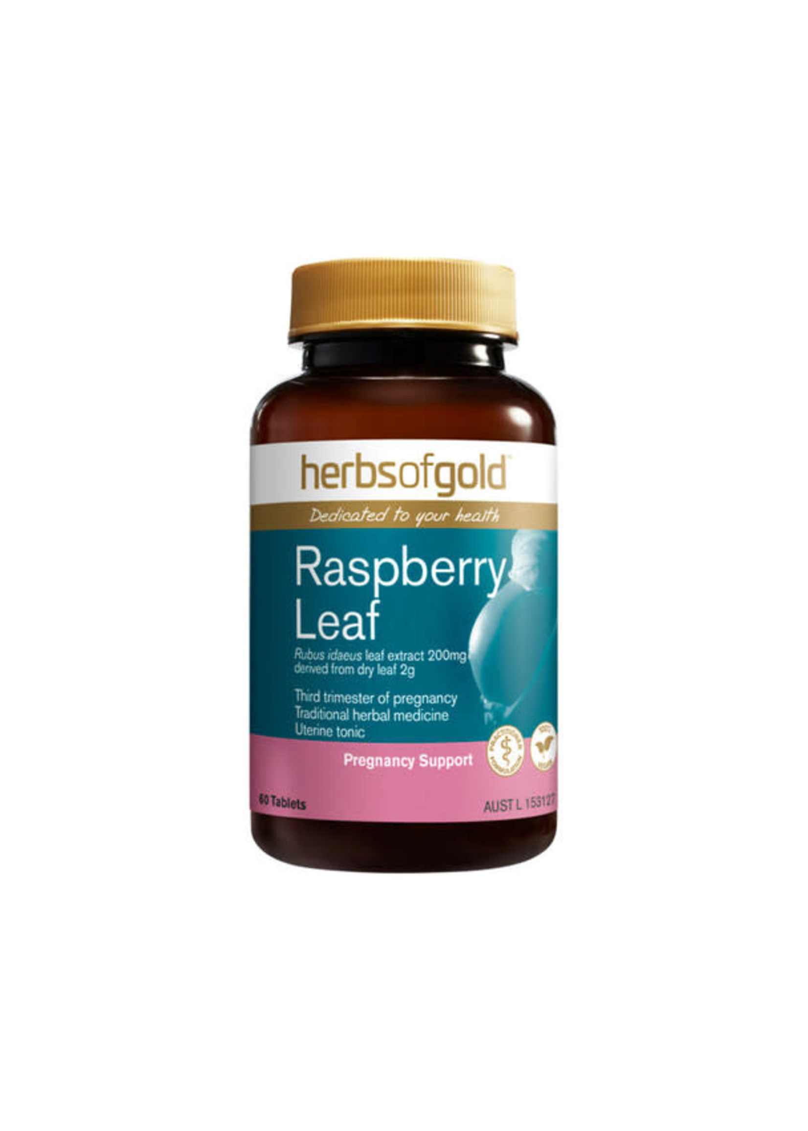 Herbs of Gold Herbs of Gold Raspberry Leaf  60 tabs (200 mg equivalent to dry leaf 2 grams)