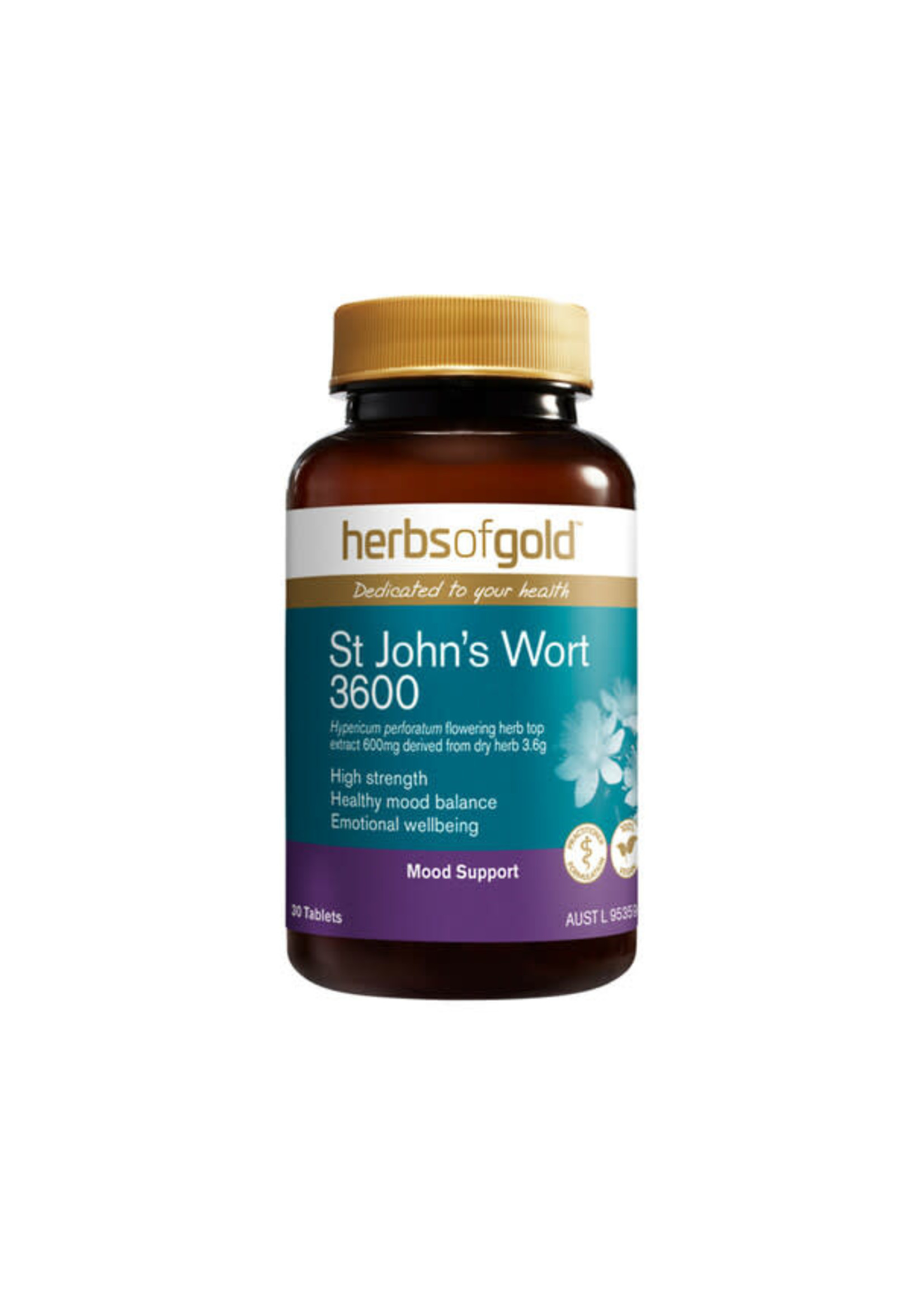 Herbs of Gold Herbs of Gold Extra Strength St Johns Wort 3600 30 tabs