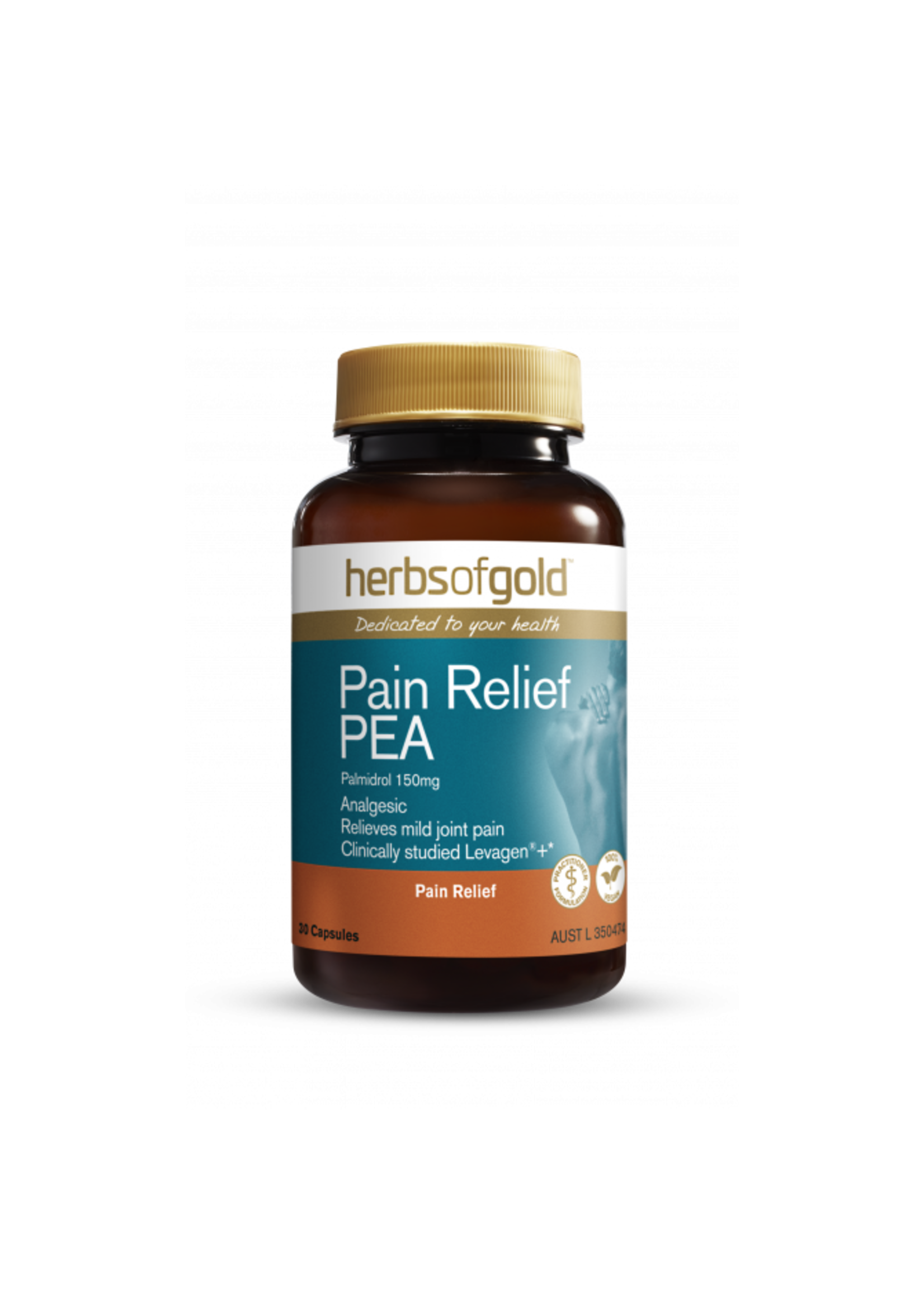 Herbs of Gold Herbs of Gold Pain Relief PEA 30 caps