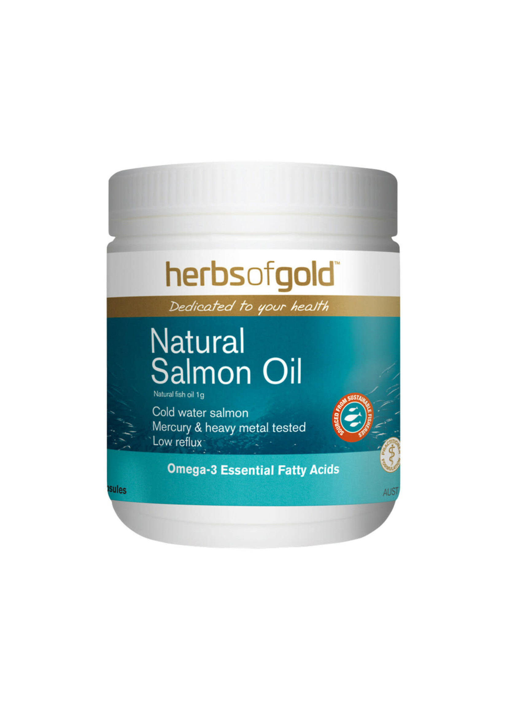 Herbs of Gold Herbs of Gold Natural Salmon Oil  200 caps