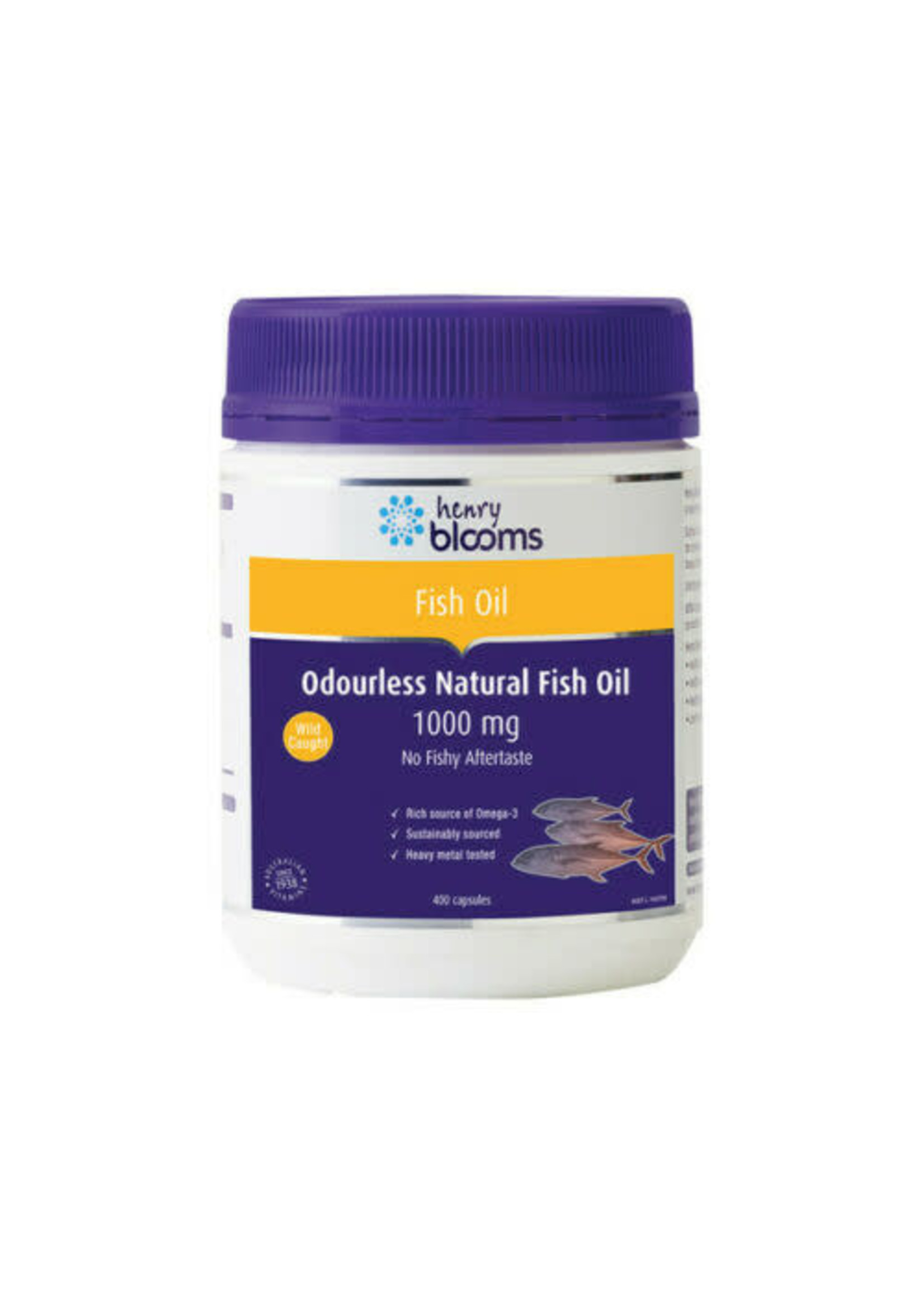 Blooms Blooms  ODOURLESS Natural Fish Oil 400 capsules