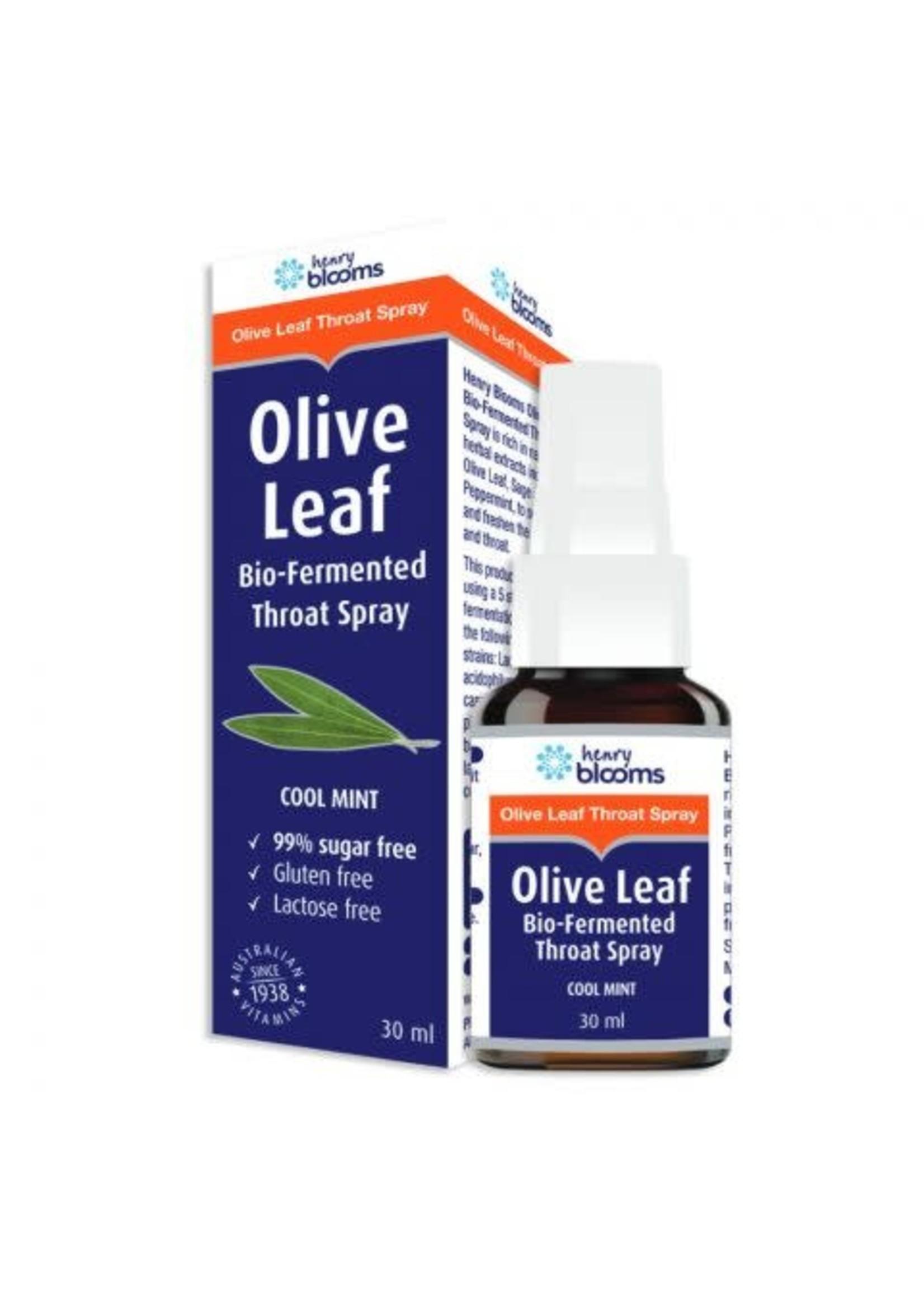 Blooms Olive Leaf Bio-Fermented Throat Spray 30ml