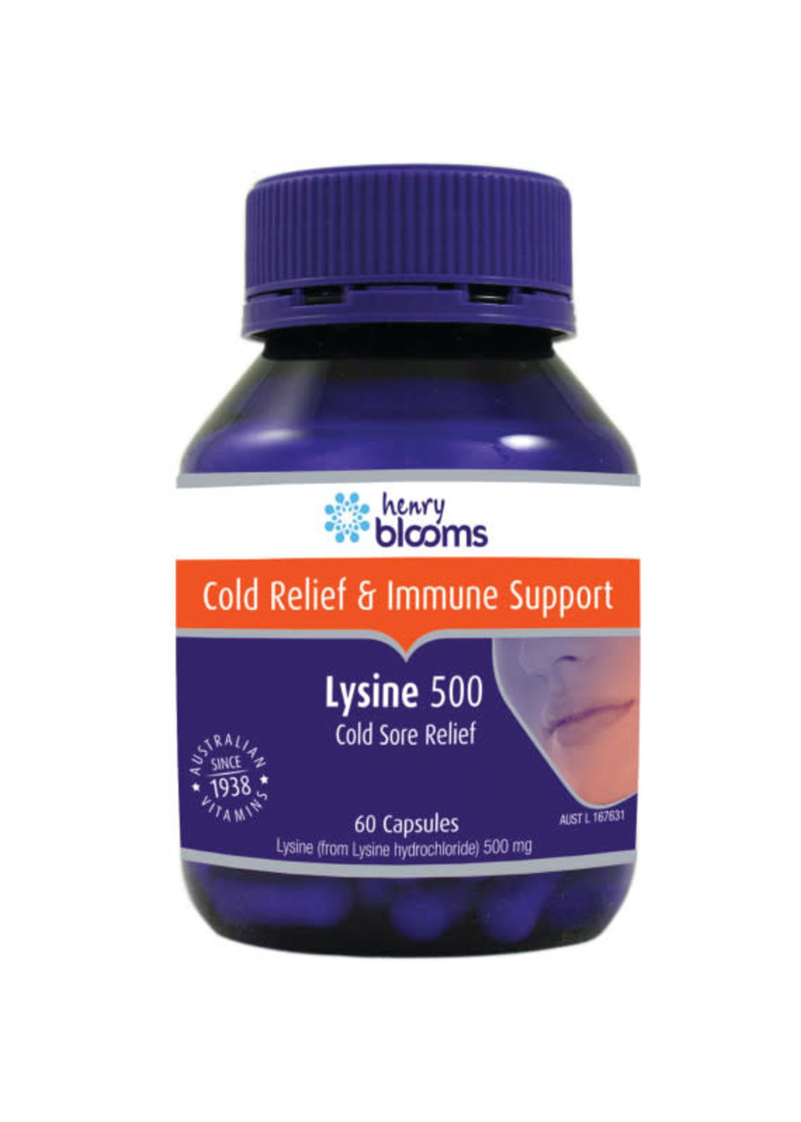 Blooms Blooms Lysine 500mg 60 caps