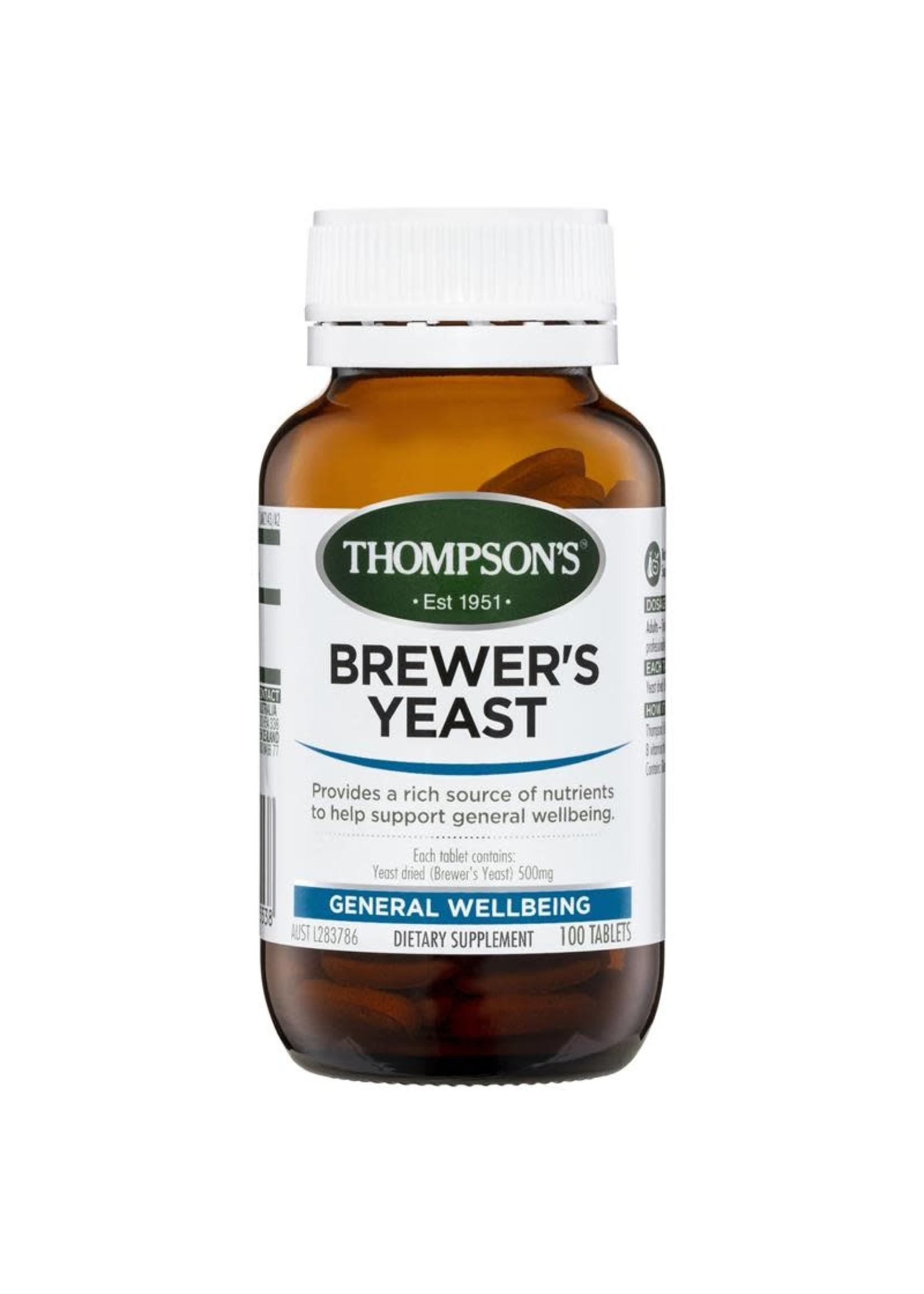 Thompsons Thompsons Brewers  Yeast 100 tabs