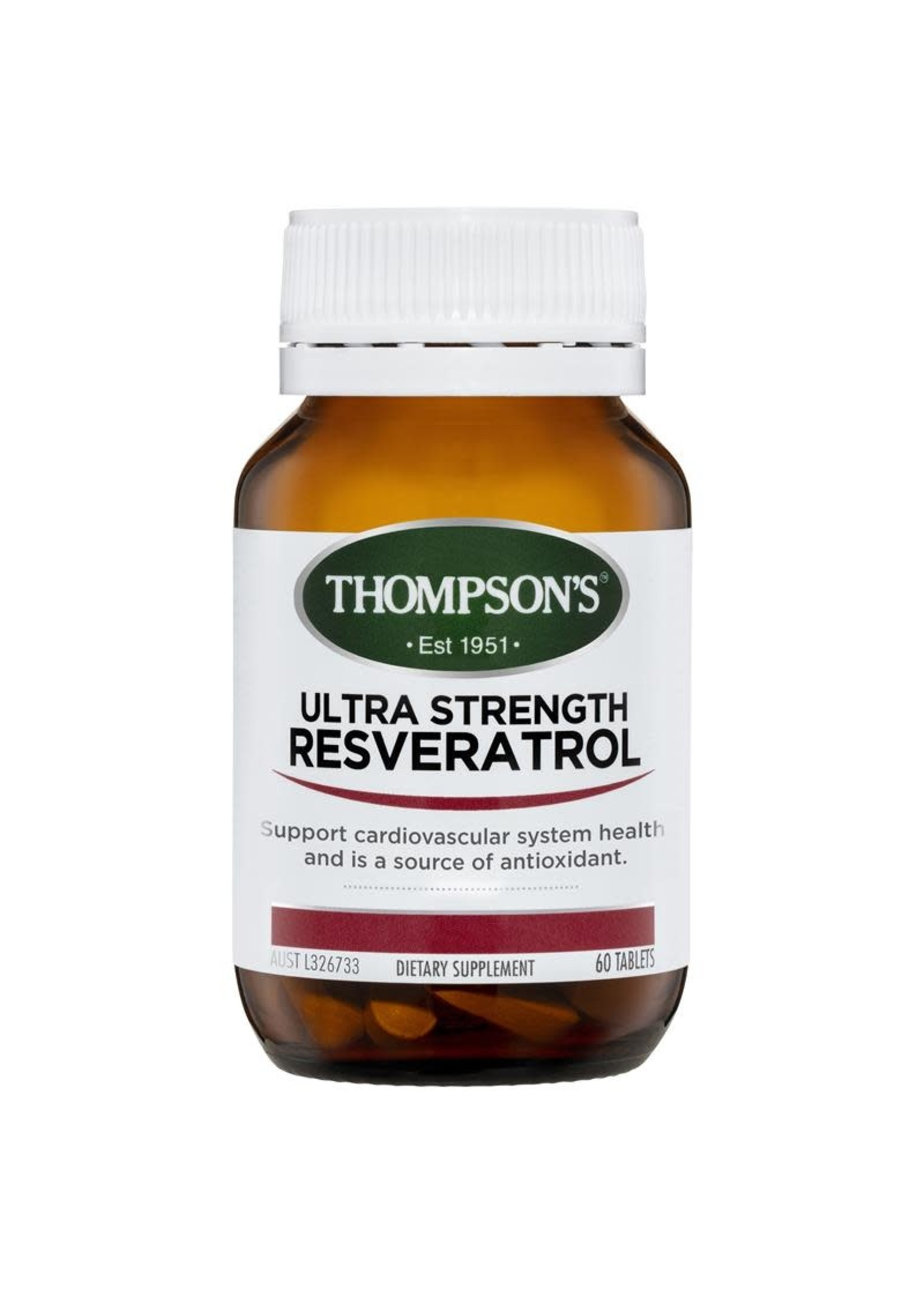 Thompsons Thompson Ultra Strength Resveratrol 60 tabs
