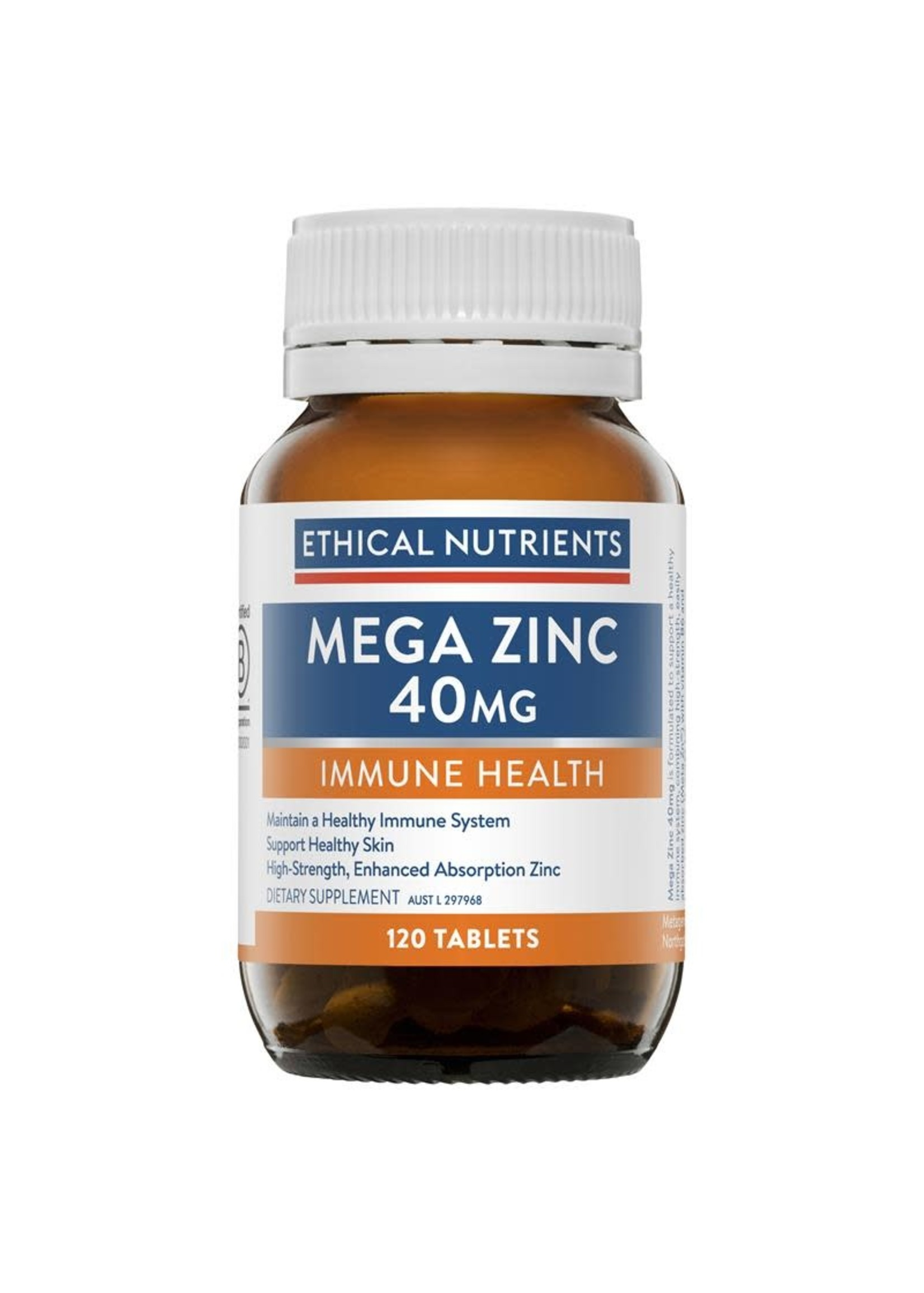 ETHICAL NUTRIENTS Ethical Nutrients Mega Zinc 40mg 120 tabs