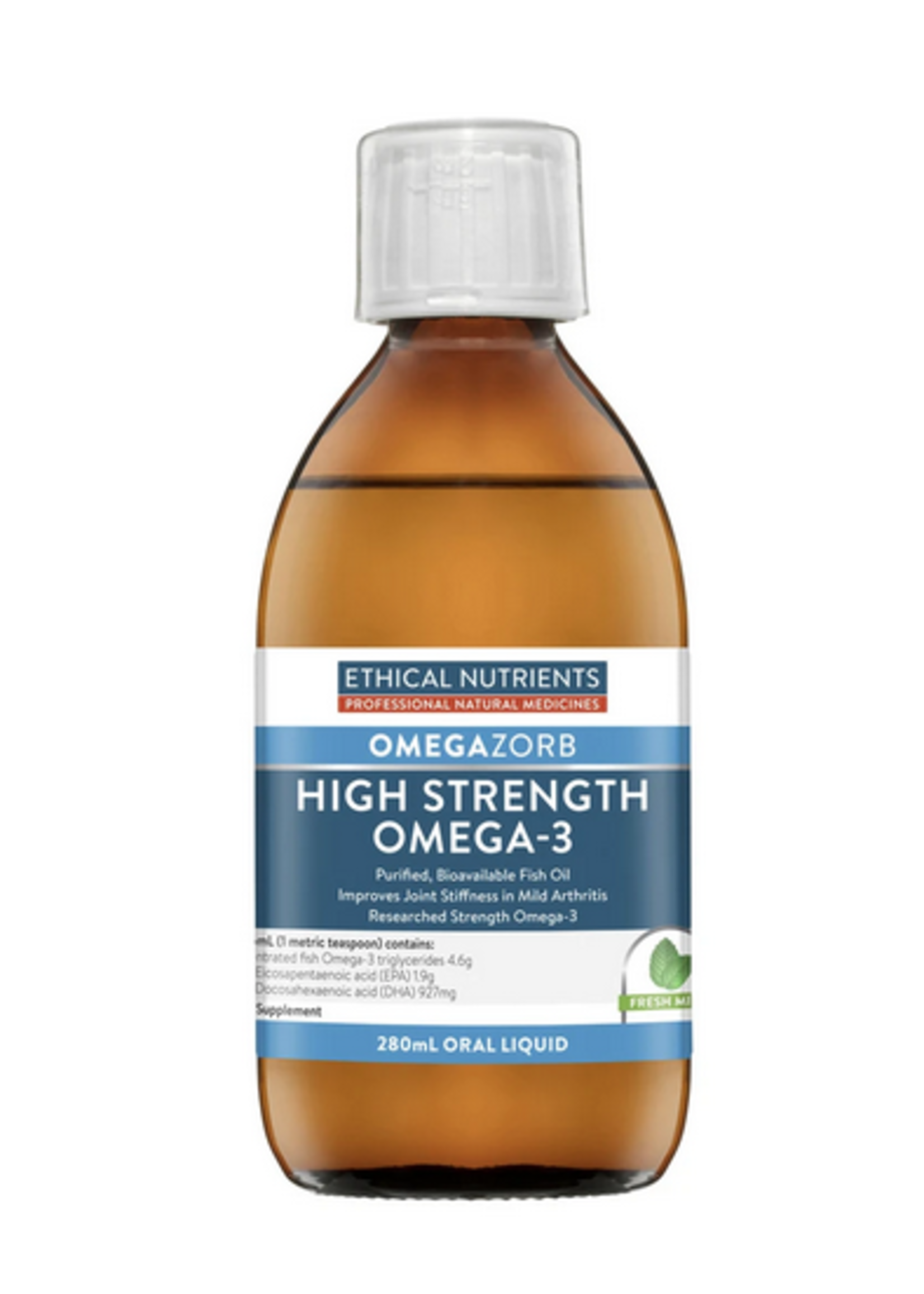 ETHICAL NUTRIENTS Ethical Nutrients Hi-Strength Liquid Fish Oil (Fresh Mint) 280 mls