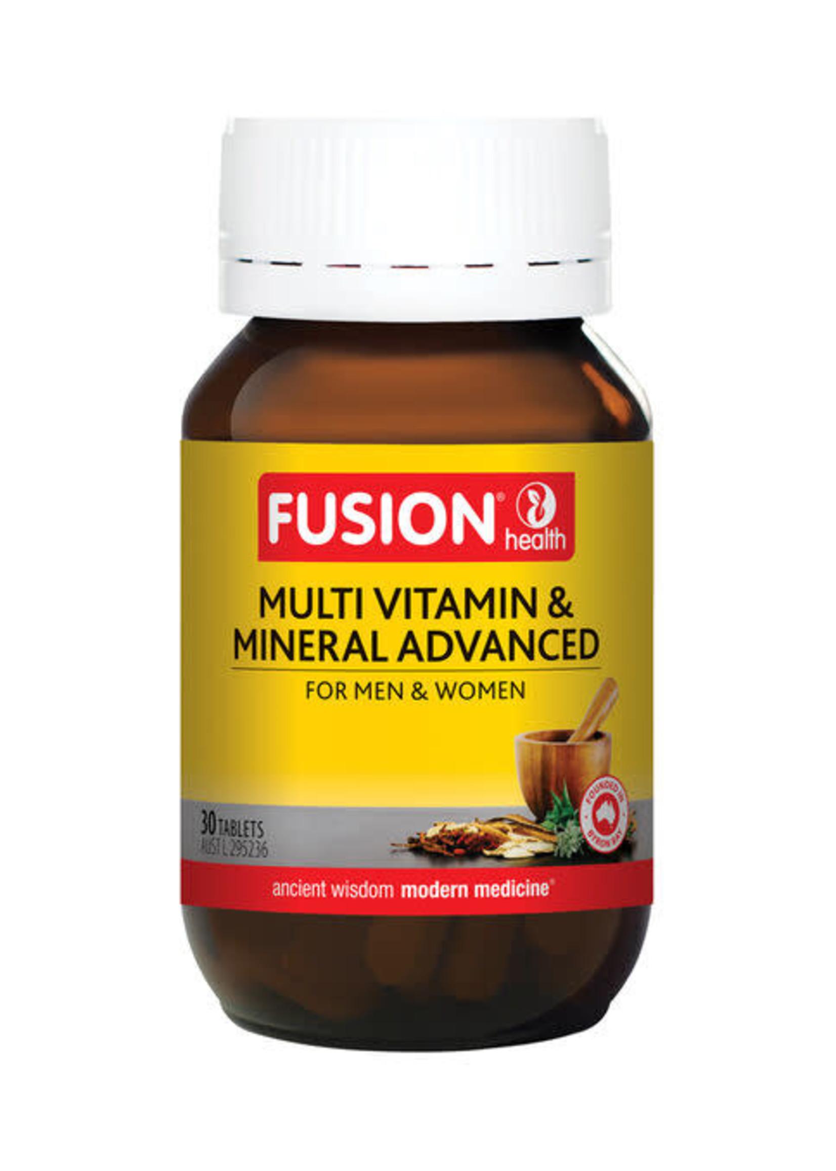 Fusion Fusion Health Multi Vitamin & Mineral Advanced 60 tabs