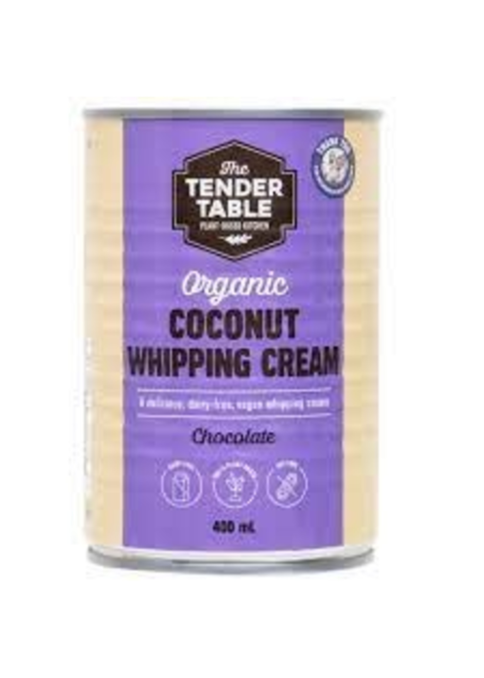 The tender table The Tender Table Organic Coconut Whipping Cream Chocolate 400ml