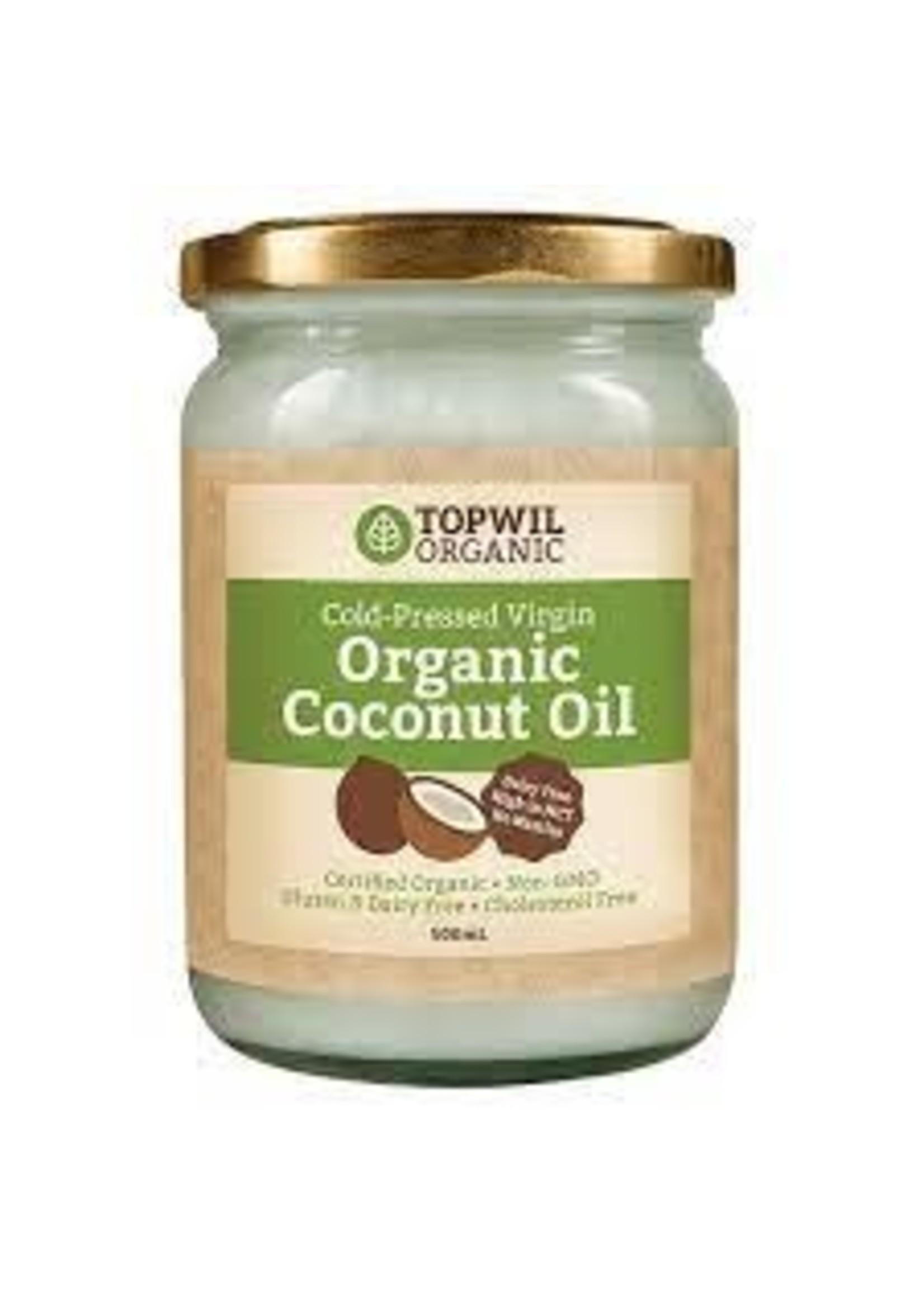 Topwil Topwil Organic Coconut oil cold pressed virgin 300g
